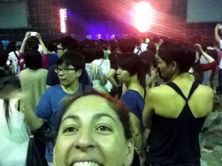 A Very Excited Tanya Self-Portrait With The Crowd Of Radiohead