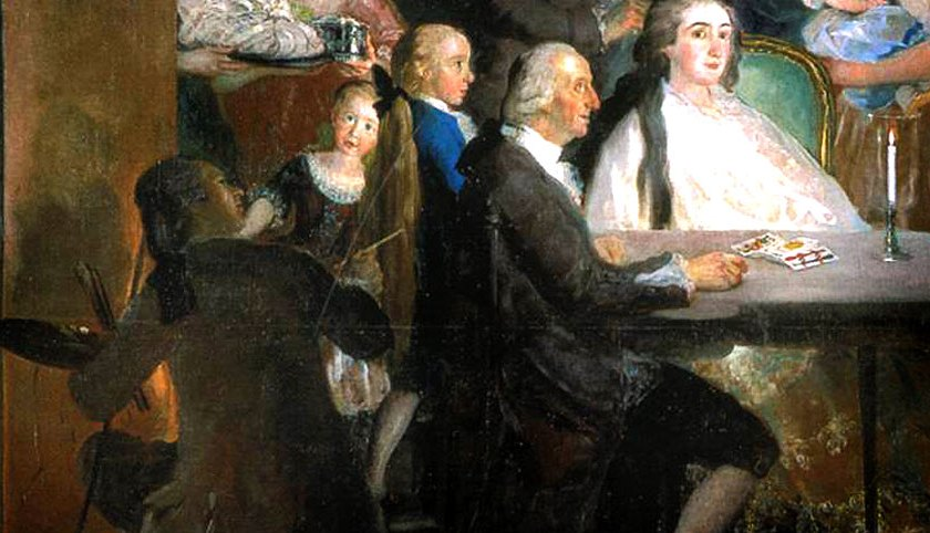 La famiglia dell'Infante don Luis (dettaglio)