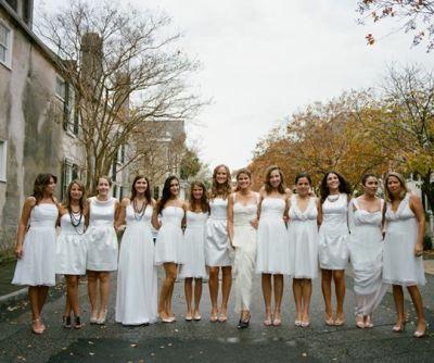 White Bridesmaid DressesWhite Bridesmaid Dresses
