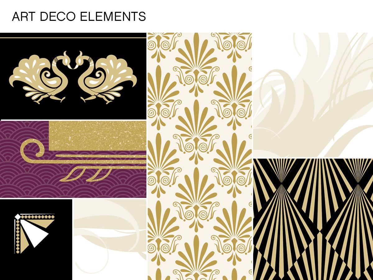 great gatsby wedding stationery ideas gatsby wedding invitations Art Deco Elements