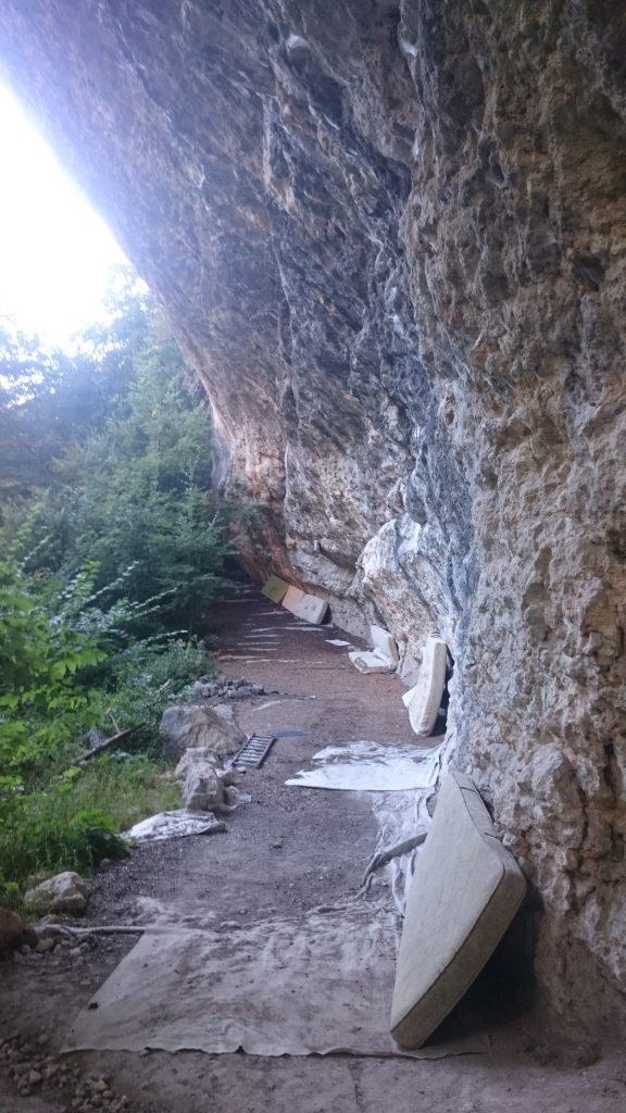 Saint George Overhang climbing