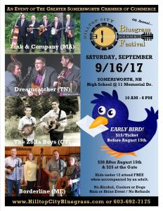 4th Annual Hilltop City Bluegrass Festival 9/16