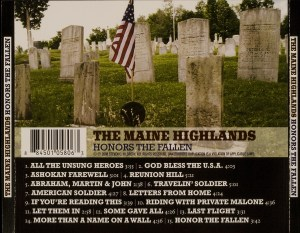 CD-0321, The Maine Highlands, Honors The Fallen