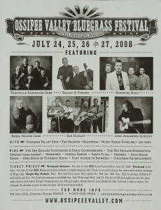 POST-0028, Ossipee Valley Bluegrass Festival, 2008