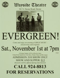 POST-0033, Wayside Theatre, Evergreen