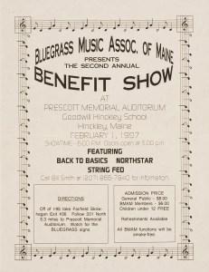 POST-0053, Bluegrass Music Assoc Of Maine Benefit Show, 1997