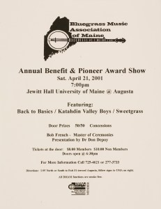 POST-0055, Bluegrass Music Association Of Maine Annual Benefit _ Pioneer Award Show, 2001