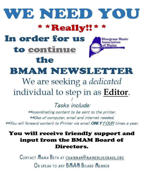 bmam newsletter we need you