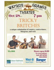 10/28 Tricky Britches at the Wayside Grange