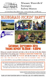 Wiscasset, Waterville & Farmington Railway Fall Festival & Pickin' Party 9/30