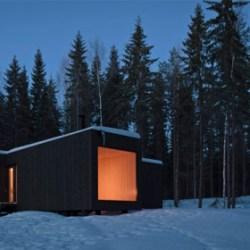 Cabane pour vivre dans les bois