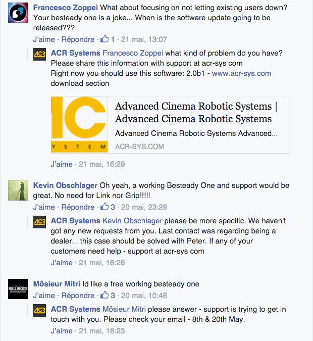 Les commentaires enragés des utilisateurs du Besteady One à propos de l'ouverture du Kickstarter pour The Grip