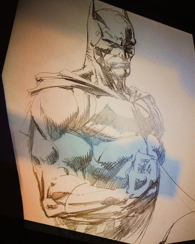 David Finch's completed Batman sketch
