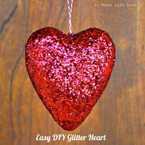 My 30 Cent DIY Glitter Heart (or How to Glitter an Object)