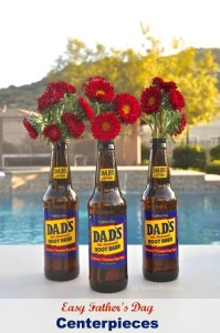 Easy Father's Day Bouqet Centerpieces