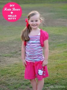 DIY Hair Bows + New Hello Kitty Line at Macy's