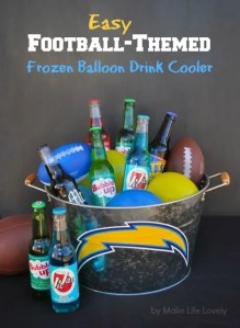 Easy Football-Themed Frozen Balloon Drink Cooler + $100 Gift Card Giveaway
