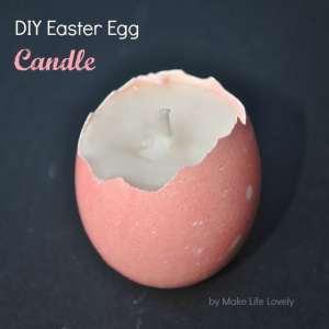 DIY Marbled Easter Egg Candles