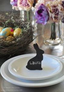Easter Bunny Chalkboard Place Cards