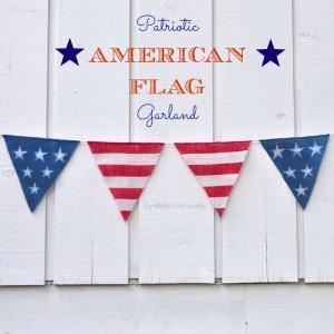 DIY American Flag Garland