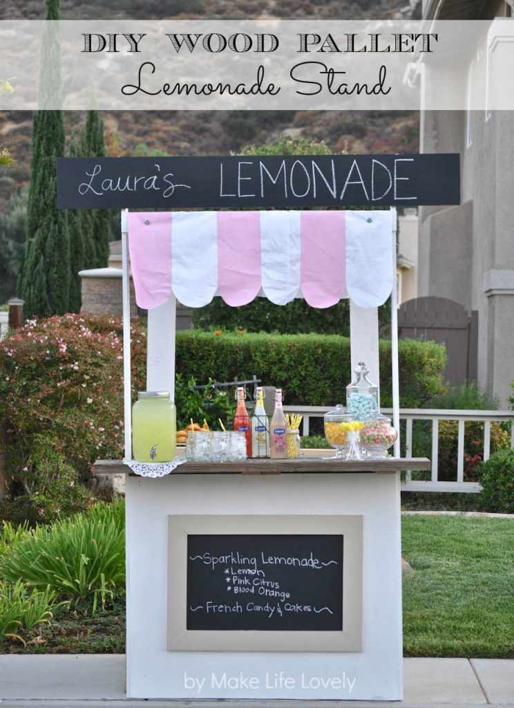 DIY Wood Pallet Lemonade Stand | by Make Life Lovely