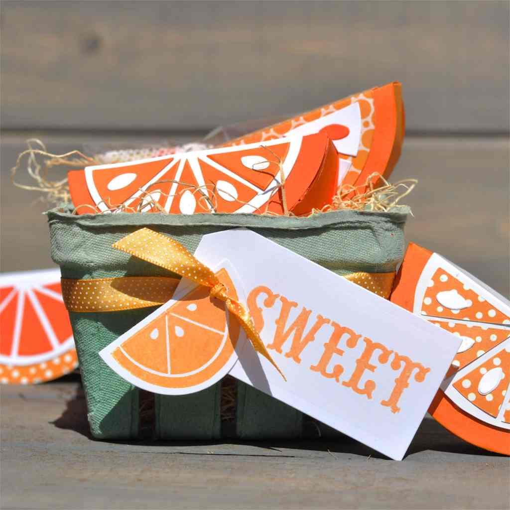 Orange Slice Fruit Gift Basket for Sizzix