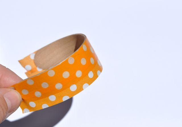 Washi tape popsicle stick bracelet