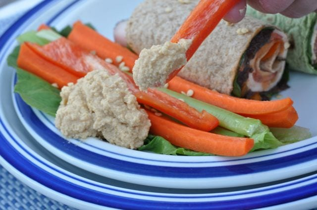 Hummus and humus wraps