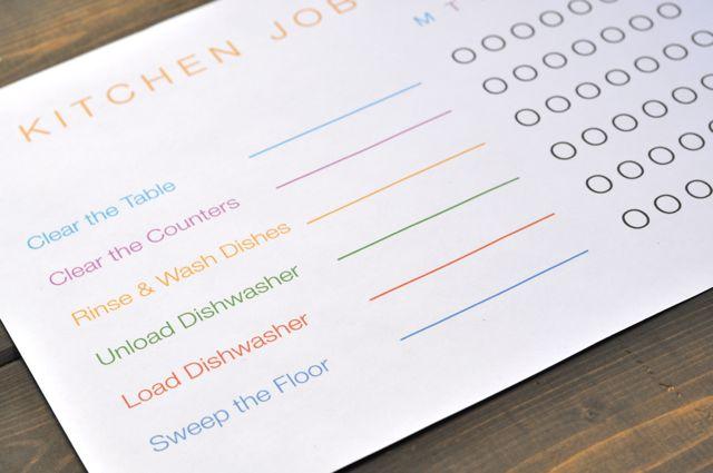 Job Chart Printable