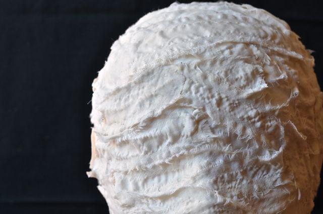 DIY mummy head (from a foam head)