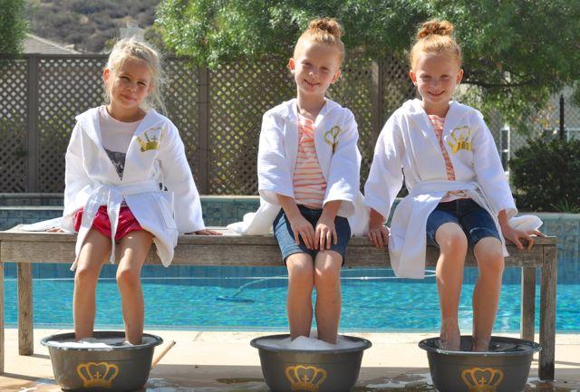 Disney Princess Spa Party Pedicures