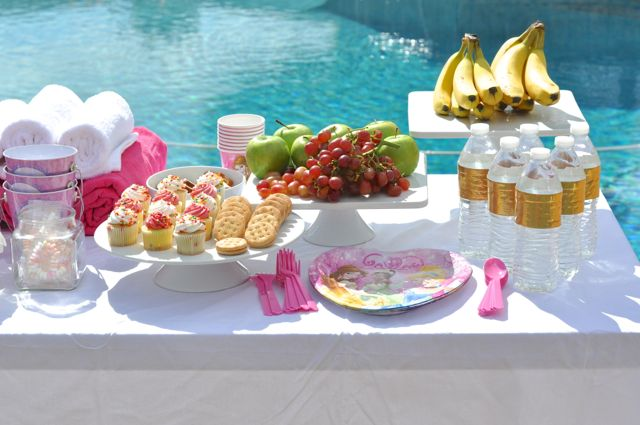 Spa party food for girls