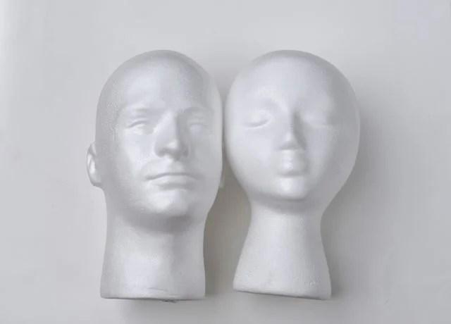 Styrofoam heads from FloraCraft