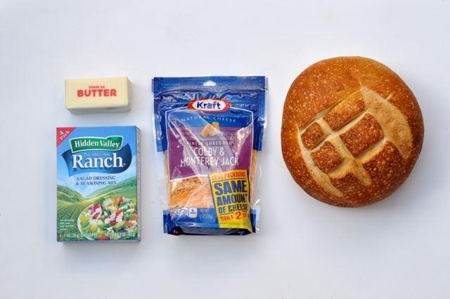 Cheesy ranch pull apart bread