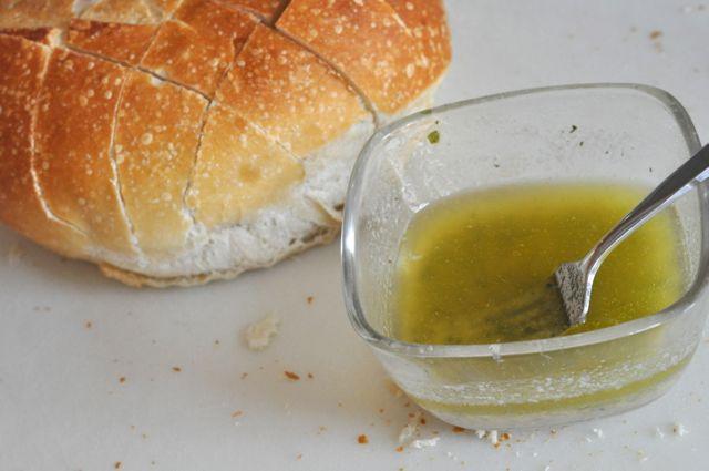Cheesy ranch pull apart bread making
