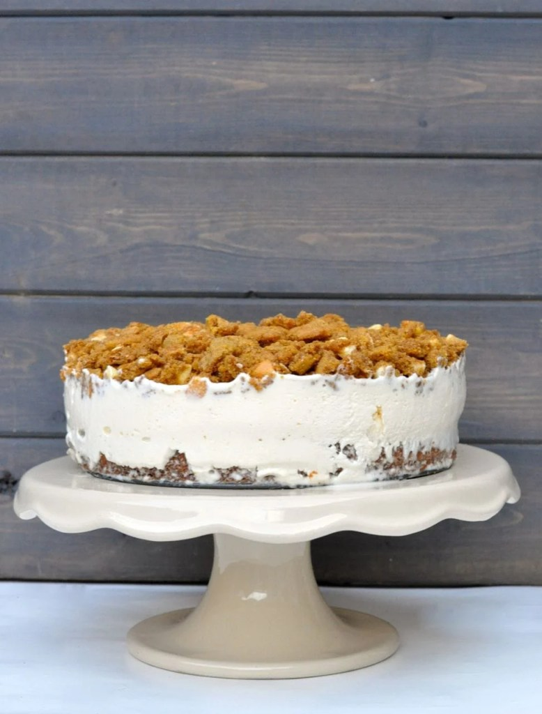 Pumpkin Spice Chocolate Chip Cookie Ice Cream Cake