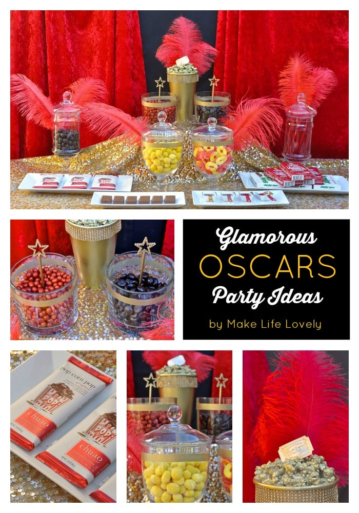 oscars party candy buffet