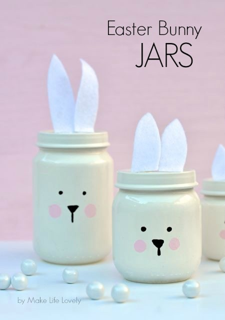 DIY Easter Bunny Jars (from baby food jars!)