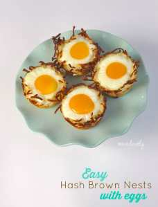 Hash Brown Nests with Eggs