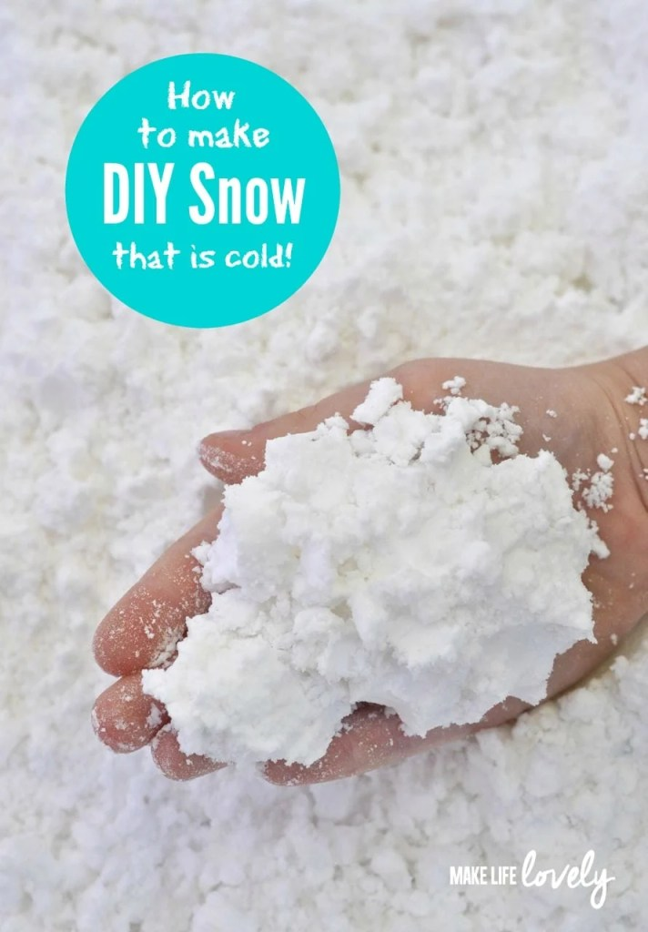 DIY Snow for Kids