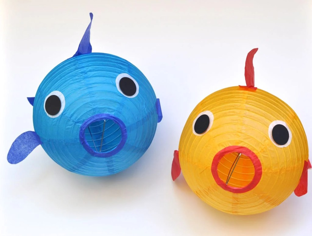 Paper Lantern Fish Craft for Under the Sea Party