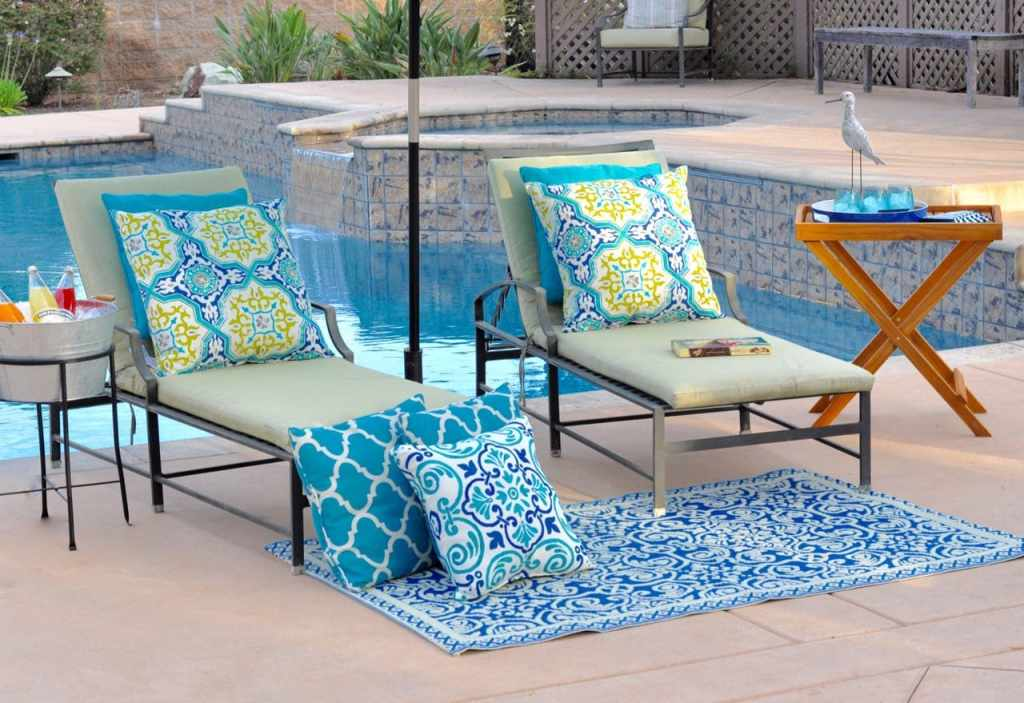 Outdoor patio space with World Market