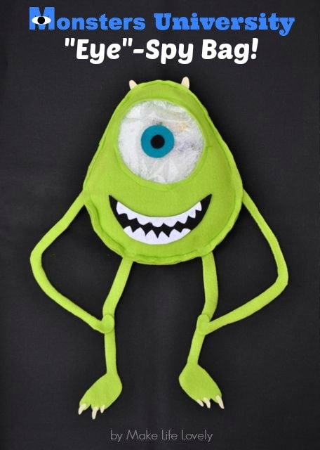 Monsters University Eye Spy Bag Tutorial