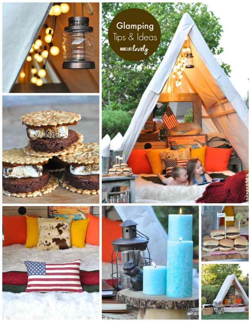 Glamping tips and ideas