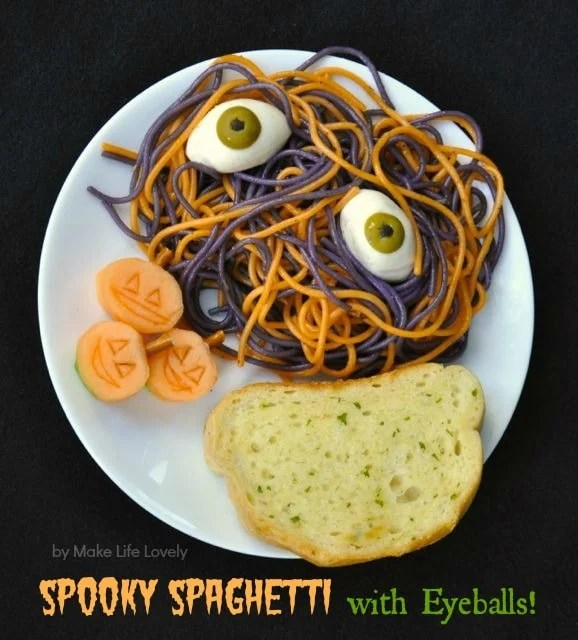 Halloween Spooky Spaghetti Dinner Recipe