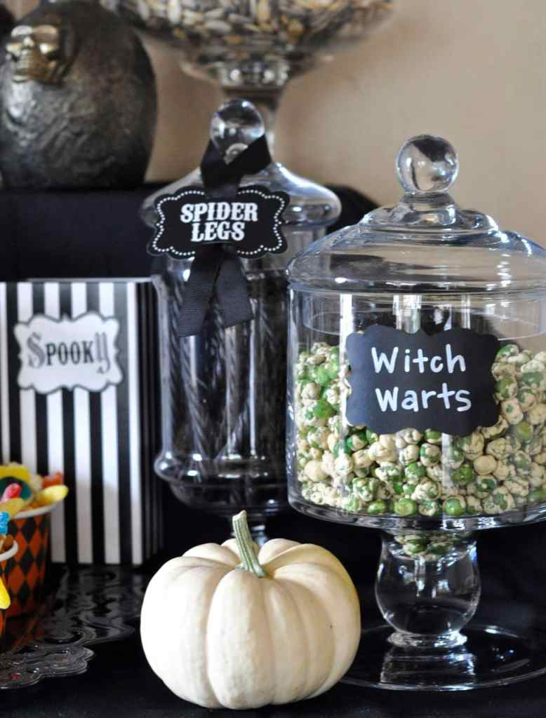Witch Warts Halloween Apothecary Jar