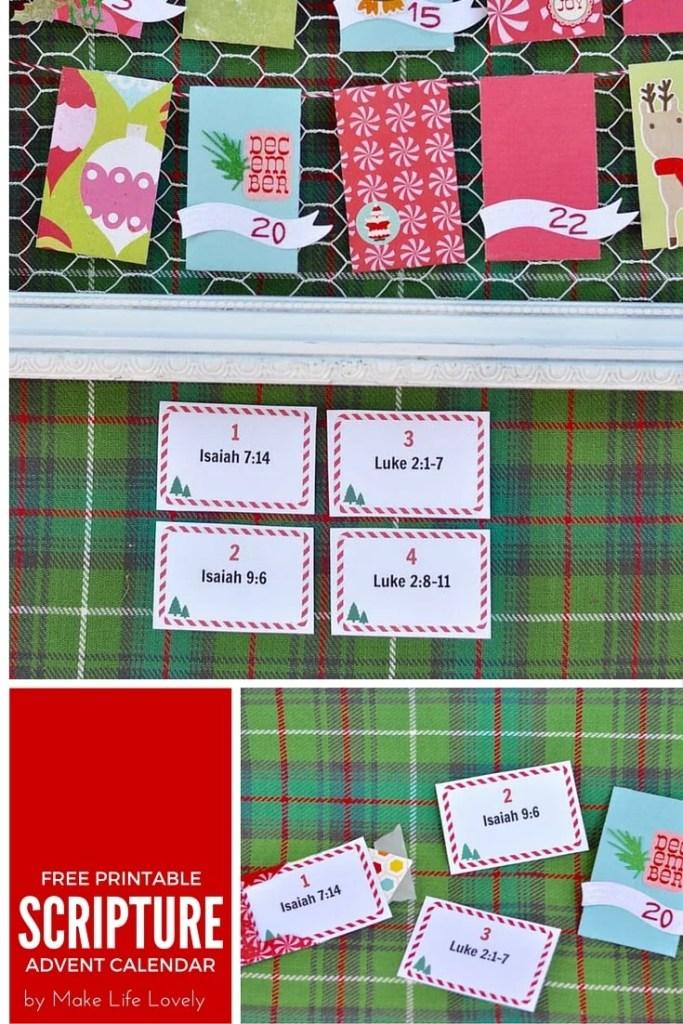Free Printable Scripture Christmas Advent Calendar
