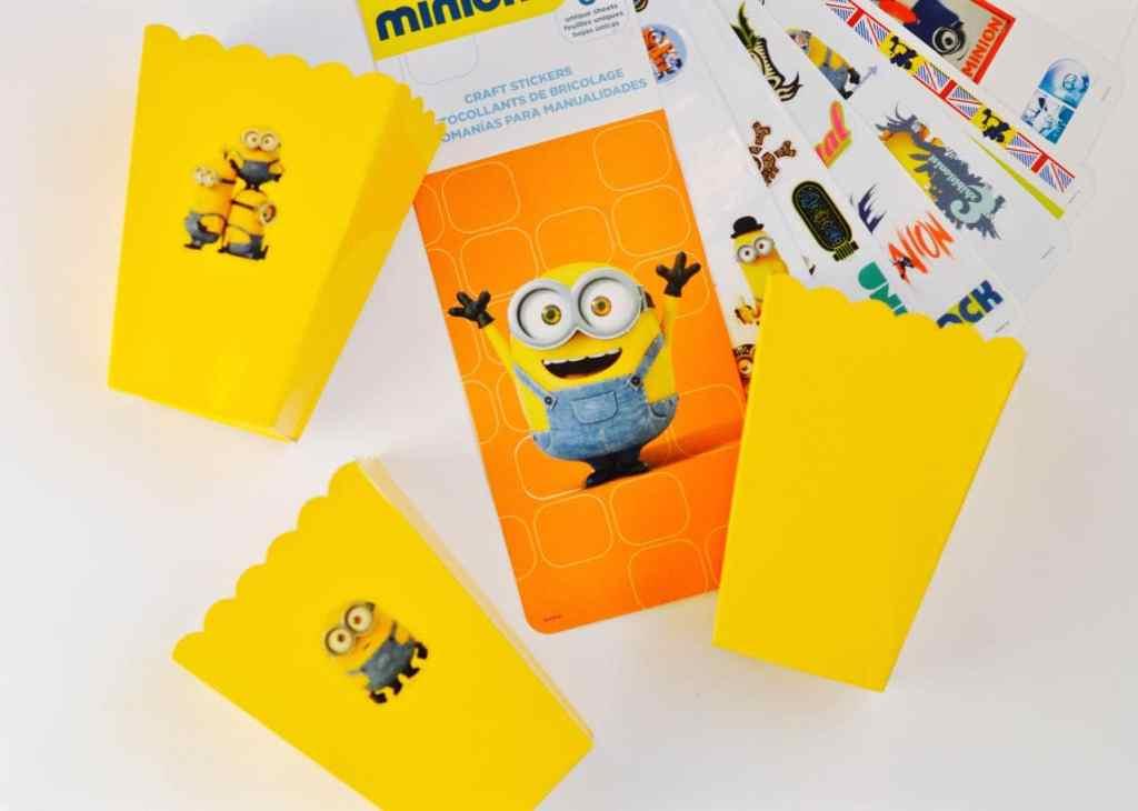 DIY Minions Popcorn Boxes