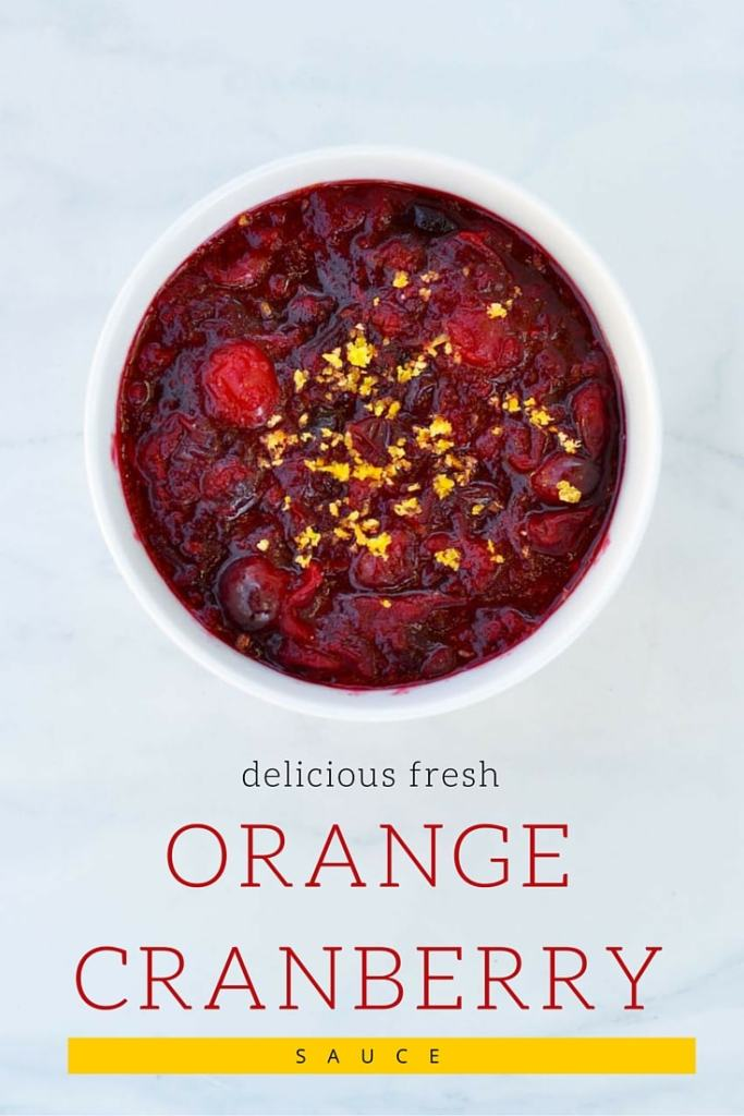 Delicious Fresh Orange Cranberry Sauce Recipe