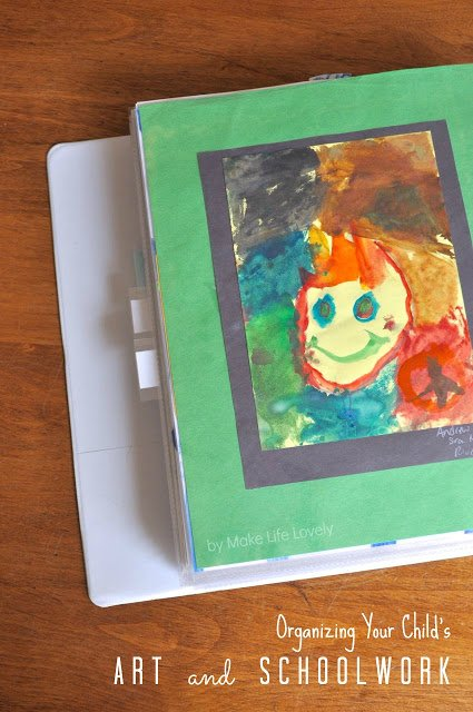 How to organize your childrens' art and schoolwork
